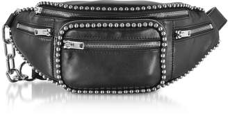 Alexander Wang Attica Soft Fanny Black Leather Belt Bag w/Ball-chain