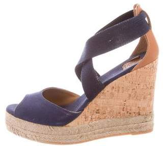 Tory Burch Canvas Wedge Sandals