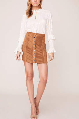 BB Dakota Alright Alright Faux Suede Skirt
