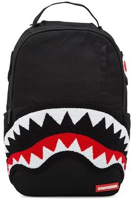 Sprayground Boys' Ghost Chenille Shark Backpack $75 thestylecure.com