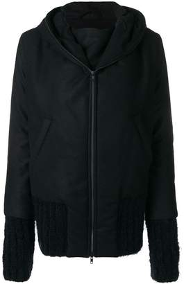 Ann Demeulemeester zipped hooded coat