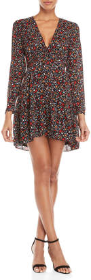 A.L.C. Black Renata Floral V-Neck Dress