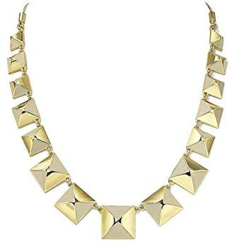 Marc Jacobs Standard Supply Giant Stud Cream Enamel Gold Link Statement Necklace