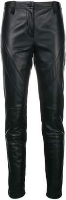 Alberta Ferretti slim fit leather trousers