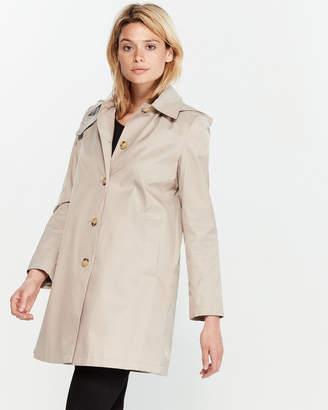 Lauren Ralph Lauren Button Hooded Raincoat