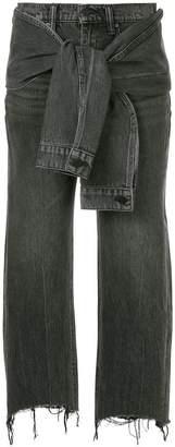 Alexander Wang knot detail jeans