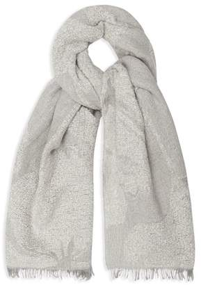Reiss Lily Floral Jacquard Scarf