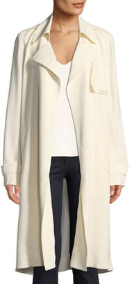 Theory Oaklane WS Belted Rosina Crepe Trench Coat