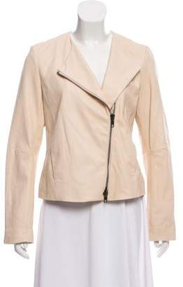 Vince Leather Asymmetric Jacket w/ Tags