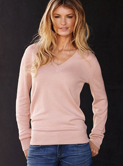 Silk & cashmere v-neck sweater