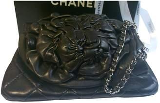 Chanel Black Leather Clutch Bag