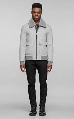 Mackage AERON brushed wool jacket with removable collar