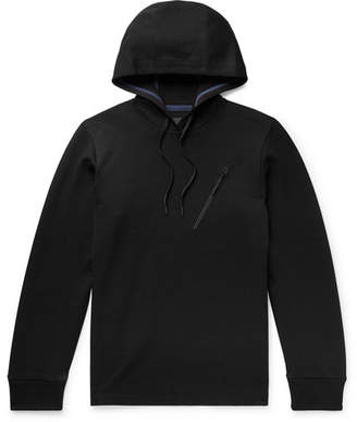 Theory Ergonomic Cotton-Blend Pique Hoodie - Black