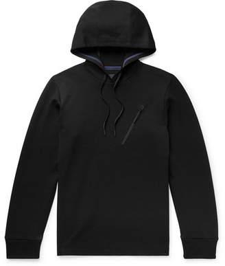 Theory Ergonomic Cotton-Blend Pique Hoodie - Men - Black