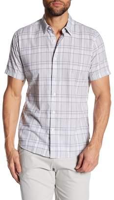 Theory Rammy Plaid Short Sleeve Slim Fit Shirt
