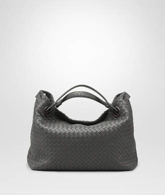 Bottega Veneta LIGHT GRAY INTRECCIATO NAPPA MEDIUM GARDA BAG