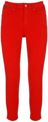 Mint Velvet Seattle Red Split Hem Jean