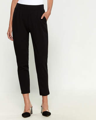 Shinestar Crepe de Chine Flat Front Dress Pants