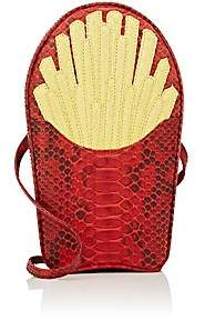 "Gelareh Mizrahi Women's ""Would You Like Fries With That"" Python Clutch - Yellow"