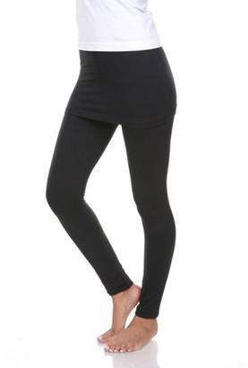 White Mark Women's Solid Skirted Leggings