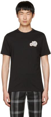 Moncler Black Double Logo Patch T-Shirt $225 thestylecure.com