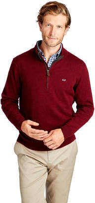 Vineyard Vines Palm Beach Cotton-Cashmere 1/4-Zip Sweater