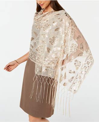 INC International Concepts Inc Floral Sequin Mesh Wrap
