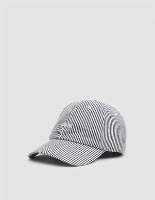 Stussy Seersucker Low Pro Cap in Black Stripe