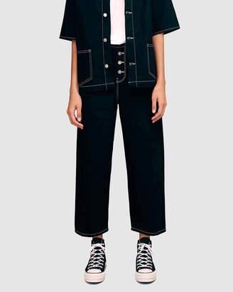 Topshop Boutique Button Up Jeans