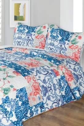 Melange Home Imperial Garden Quilt Set - Multi