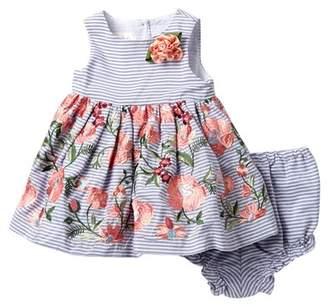 Laura Ashley Sleeveless Striped Dress (Baby Girls 0-9M)