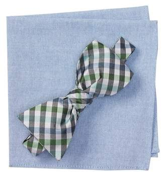 BROLETTO Belieu Check Bow Tie & Pocket Square Set