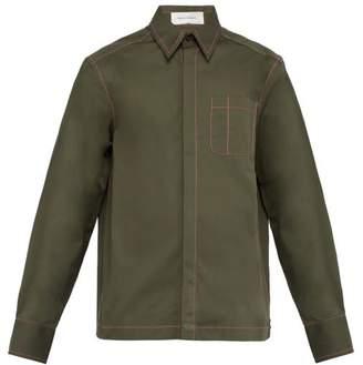 Wales Bonner Oversized Patch Pocket Cotton Shirt - Mens - Khaki