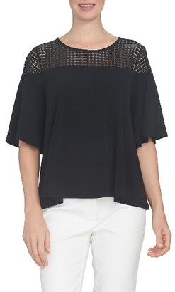 Women's Cece Lace Yoke Blouse $69 thestylecure.com