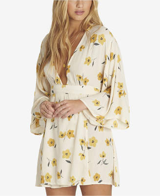 Billabong Juniors' Relax On High Printed Wrap-Front Dress