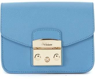 Furla Metropolis Mini Light Blue Leather Shoulder Bag