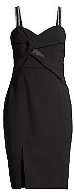 Parker Black Women's Lazaro Embellished Twist-Front Dress - Size 0
