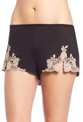Natori Charlize Lace Embroidered Tap Shorts