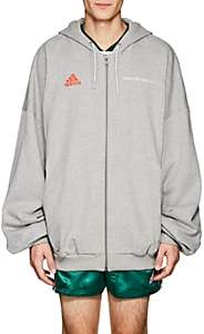 Gosha Rubchinskiy X adidas Men's Logo Cotton French Terry Oversized Hoodie-Gray