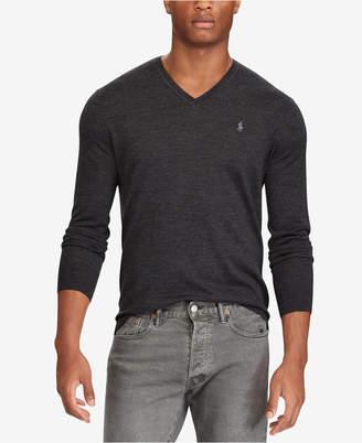 Polo Ralph Lauren Men's V-Neck Merino Wool Sweater