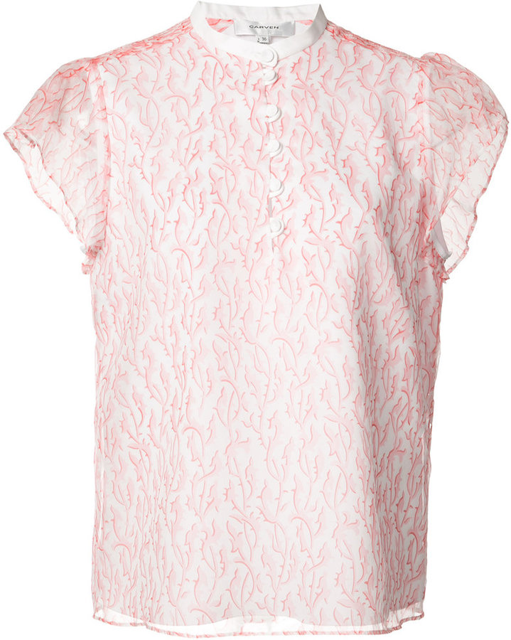 Carven Carven layered cap-sleeve blouse