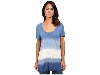 The Beginning Of Wisteria Pocket Dip-Dye Tee Women's T Shirt