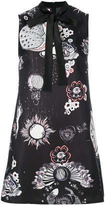 Giamba abstract print mini dress