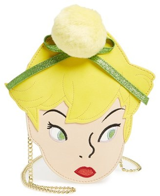 Danielle Nicole X Disney Tinker Bell Faux Leather Crossbody Bag - Yellow $68 thestylecure.com