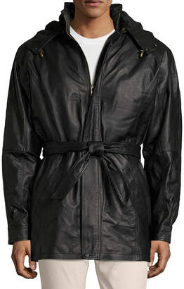 VINTAGE LEATHER Vintage Leather Hooded Parka With Zip Out Lining