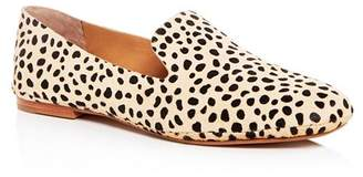 Dolce Vita Women's Wynter Leopard Print Calf Hair Smoking Slippers
