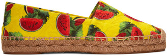 Dolce & Gabbana Yellow Watermelon Espadrilles $495 thestylecure.com