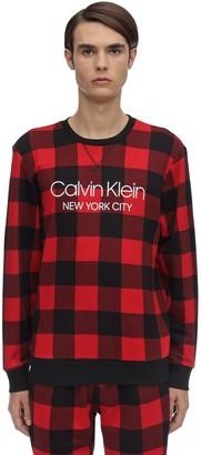 Calvin Klein Underwear Check Cotton Blend Pajama Sweater