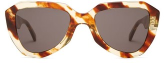 Celine Aviator Acetate Sunglasses - Womens - Brown Multi