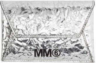 MM6 MAISON MARGIELA (エムエム6 メゾン マルジェラ) - MM6 Maison Margiela シルバー クリンクル カード ホルダー